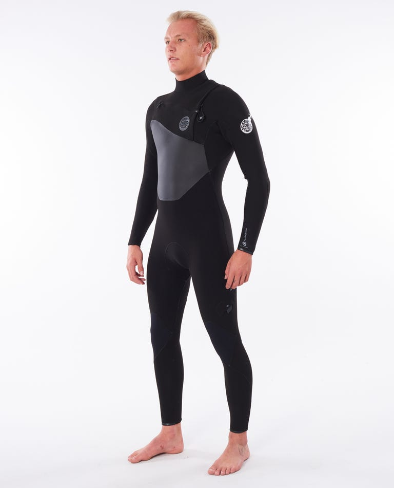 Flashbomb 4/3 Chest Zip Wetsuit in Black