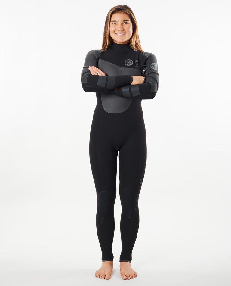 Flashbomb Heatseeker 4/3mm Zip Free Full Length Wetsuit Steamer in Black