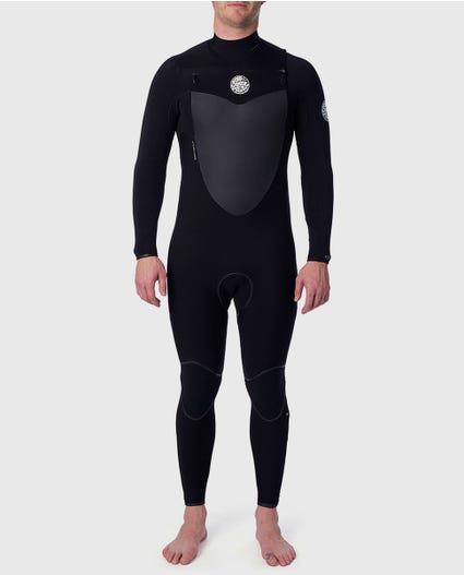 Flashbomb 3/2 Chest Zip Wetsuit in Black
