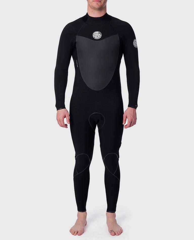 Flashbomb 3/2 Back Zip Wetsuit in Black