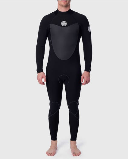 Flashbomb 3/2 Back Zip Wetsuit in Black