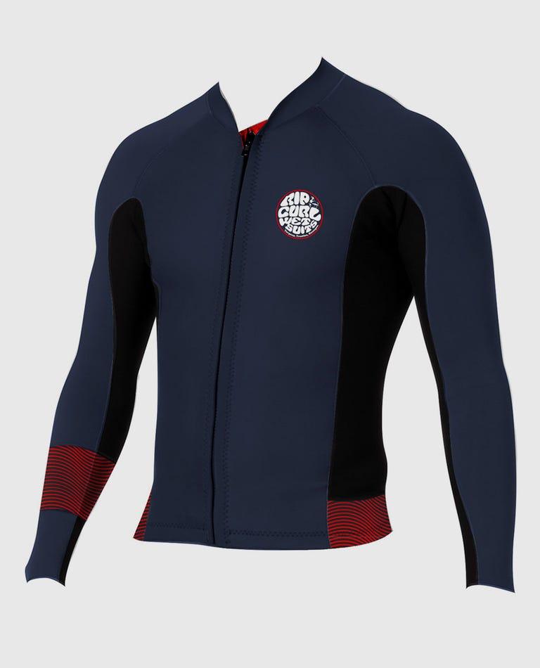 Boys Aggrolite Front Zip Jacket in Red
