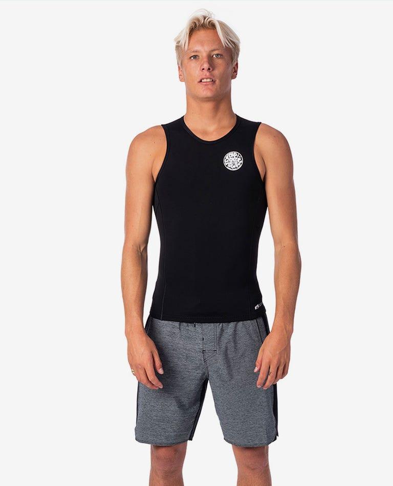 Flashbomb 0.5mm Sleeveless Wetsuit Vest in Black
