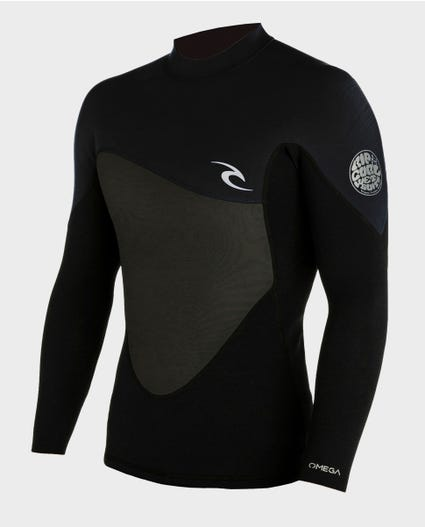 Omega 1.5mm Wetsuit Jacket in Black
