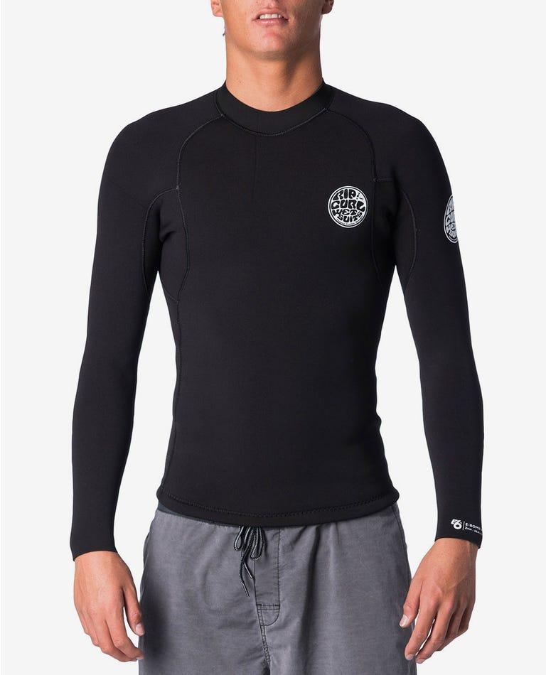 E Bomb Long Sleeve Wetsuit Jacket in Black