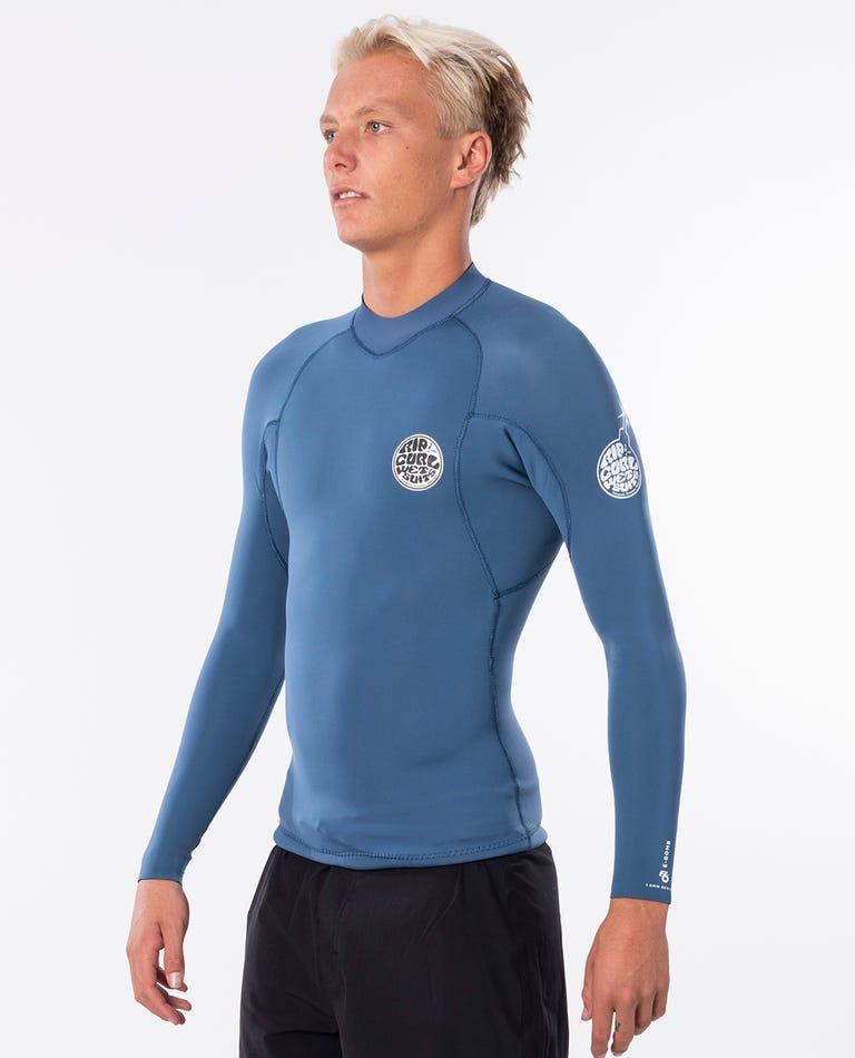 E Bomb Long Sleeve Wetsuit Jacket in Blue