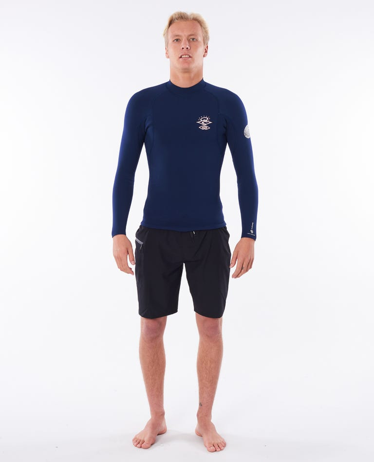 E-Bomb 1.5mm Long Sleeve Wetsuit Jacket in Navy/Red