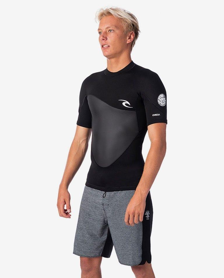Omega 1.5mm Short Sleeve Jacket in Black