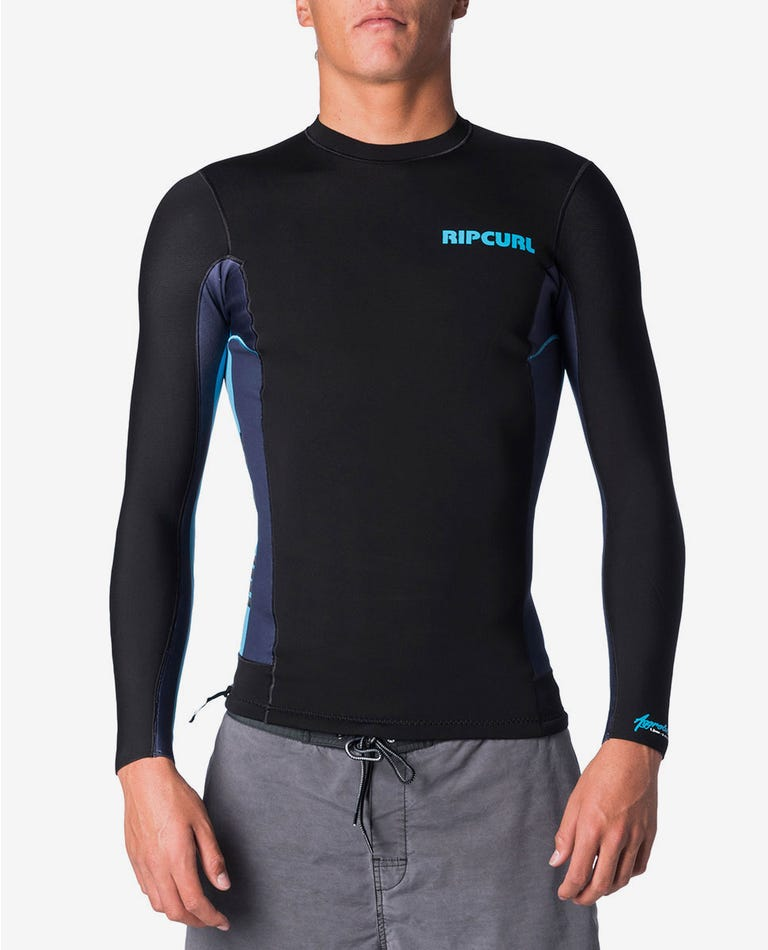 Aggrolite 1.5mm Long Sleeve Wetsuit Jacket in Blue