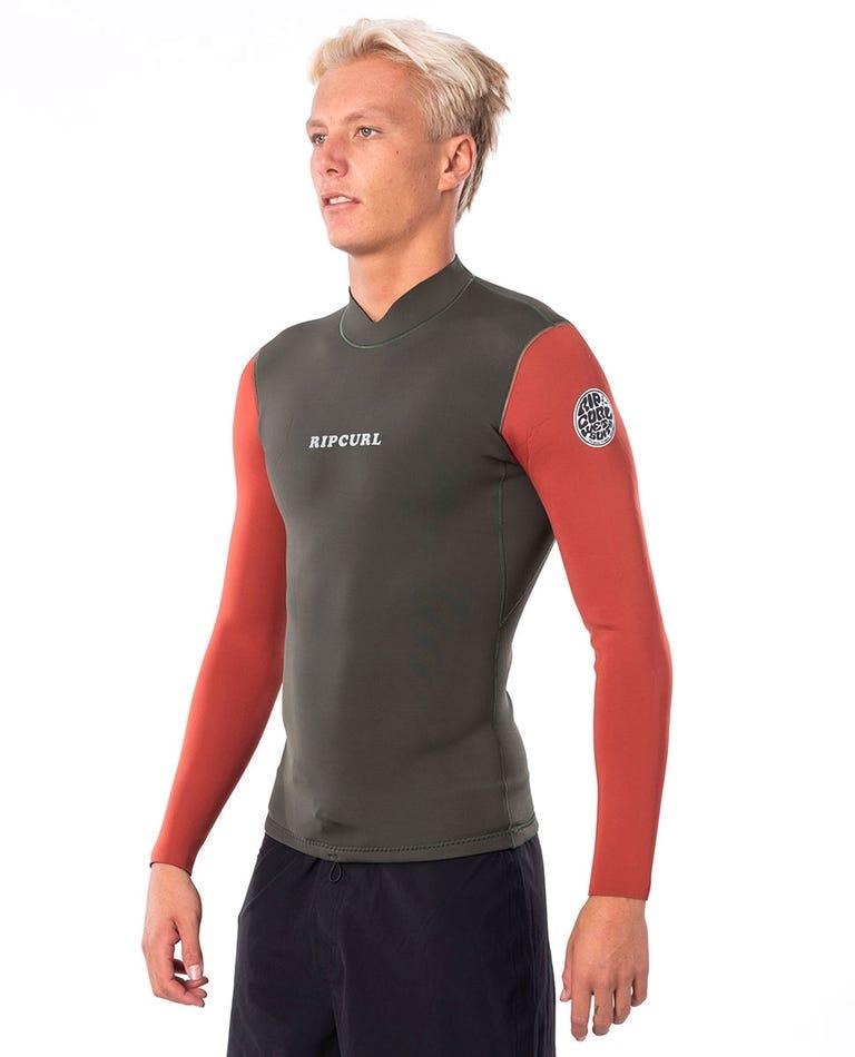 Dawn Patrol Reversible 1.5mm Long Sleeve Jacket in Khaki
