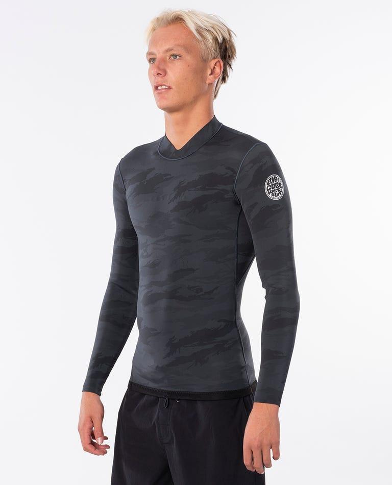 Dawn Patrol Reversible 1.5mm Long Sleeve Jacket in Camo