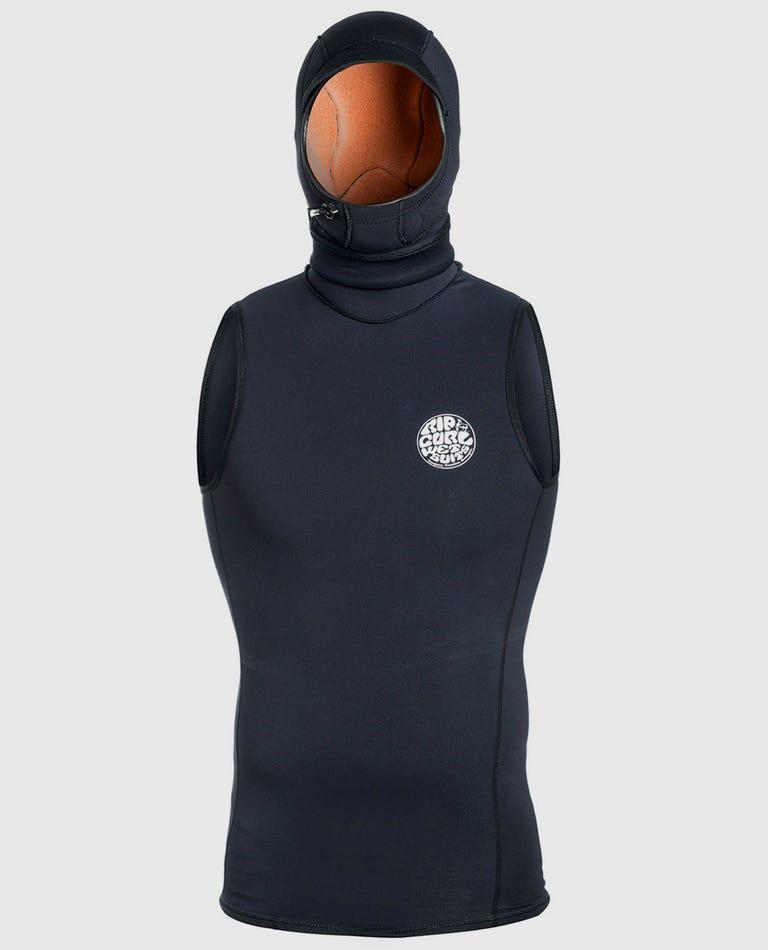 Flash Bomb Hooded Vest in Black