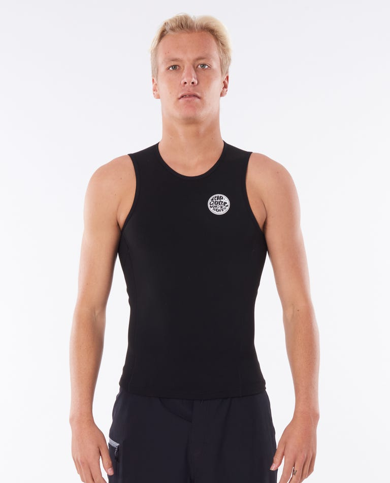 Flashbomb 0.5MM Sleeveless Vest in Black