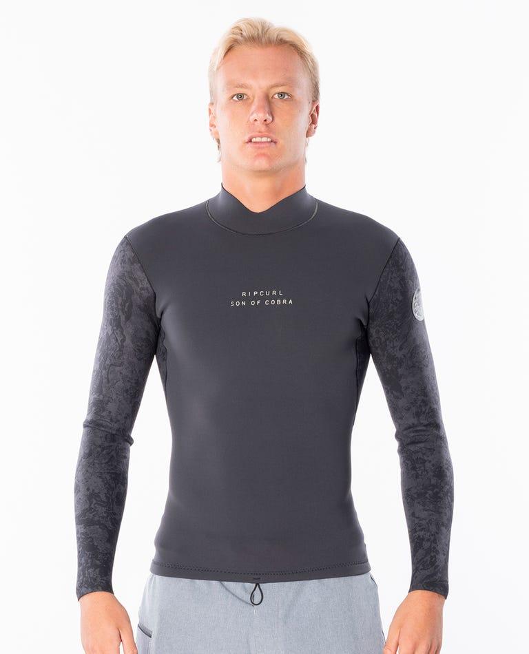 Dawn Patrol 1.5mm Long Sleeve Wetsuit Jacket in Black