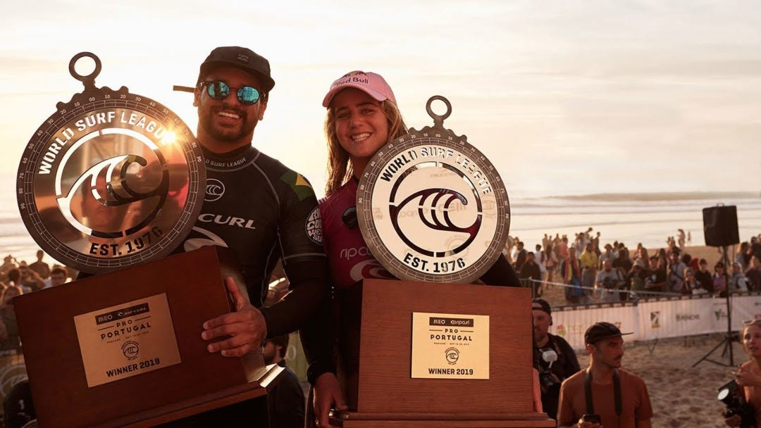 Italo Ferreira and Caroline Marks Win the 2019 MEO Rip Curl Pro Portugal