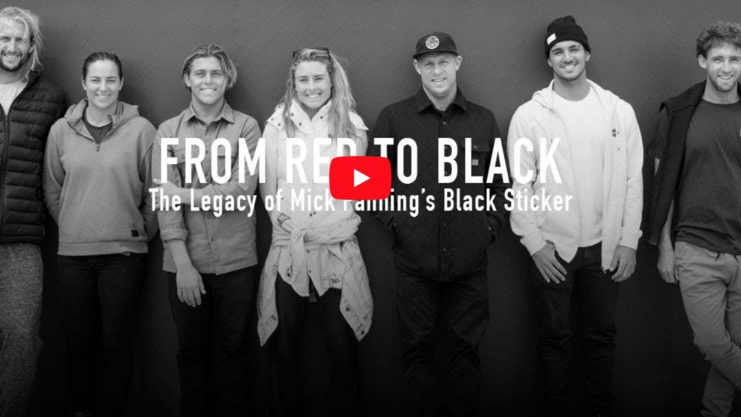 From Red To Black: The Legacy Of Mick Fanning's Black Sticker