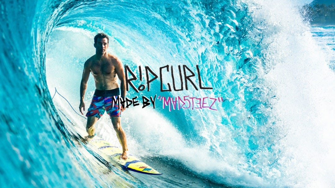 Rip Curl X MadSteez: Collab Range Released With Large-Scale Mural At Rip Curl Pro Bells Beach