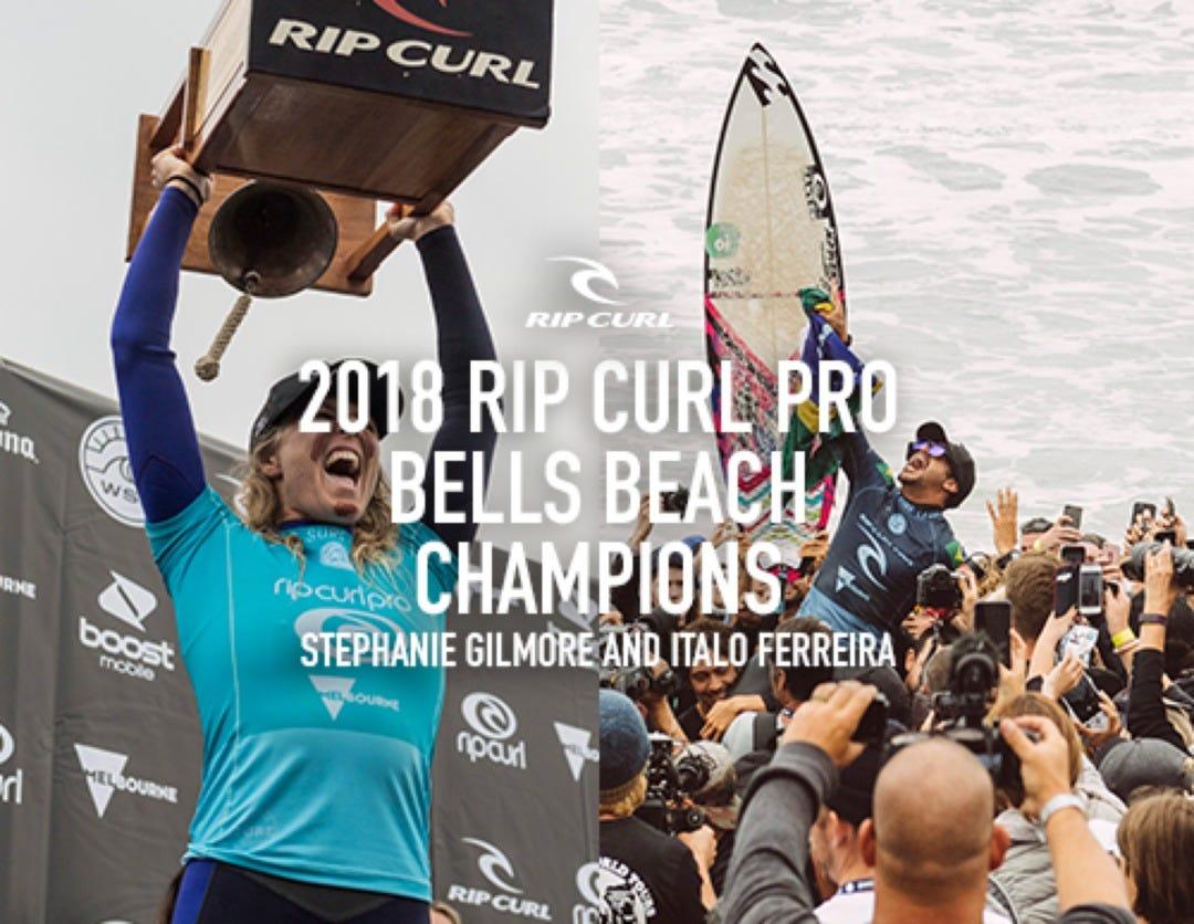 Stephanie Gilmore And Italo Ferreira Win The Rip Curl Pro Bells Beach