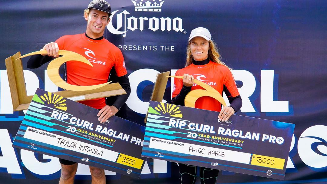 Hutchison and Hareb Hammer Home Big Wins at Rip Curl Pro Pres by Corona