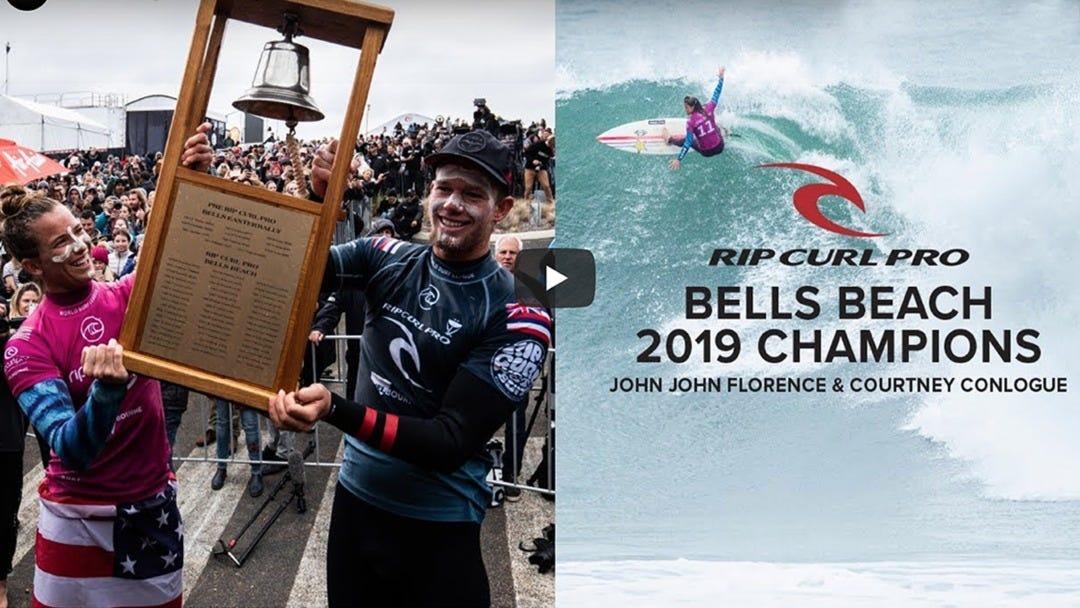 John John Florence And Courtney Conlogue Win The 2019 Rip Curl Pro Bells Beach