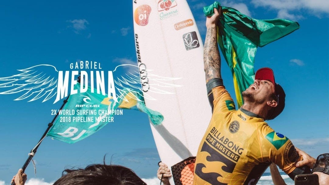 Join Gabriel Medina Behind The Scenes On The Day Of His Second World Title