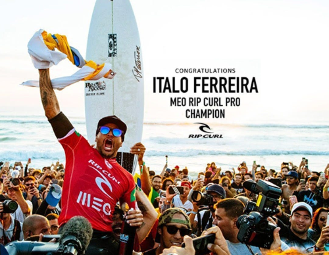 Italo Ferreira Wins The 2018 MEO Rip Curl Pro Portugal, World Title Race Heads To Hawaii