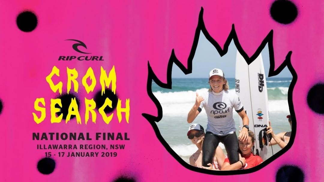 Australia's Best Junior Surfers Turn It On For Finals Of The Rip Curl GromSearch National Final On The NSW South Coast.