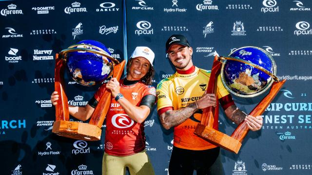 Gabriel Medina and Sally Fitzgibbons Win the Rottnest Rip Curl Search