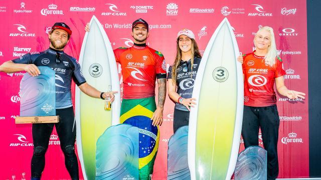 Gabriel Medina and Caroline Marks Win Rip Curl Narrabeen Classic
