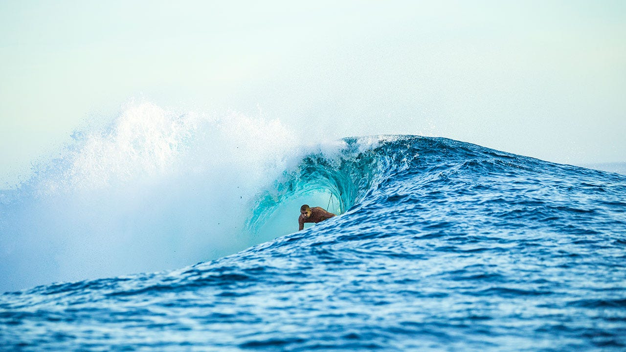 There's no risk of Mick Fanning running out of puff