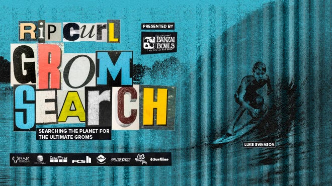 2020 Rip Curl GromSearch Series Poster Art with Luke Swanson